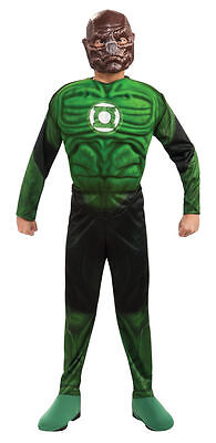 Kostüm~USA~122-128-134~GREEN LANTERN~Karneval~Fasching~Muskeln~Maske~KILOWOG~neu