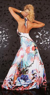 Printed fantasy auf dem Abendkleid