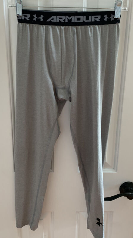 Under Armour  GRAY Youth Heatgear Team Compression Leggings ( 1253824 ) Size YLG