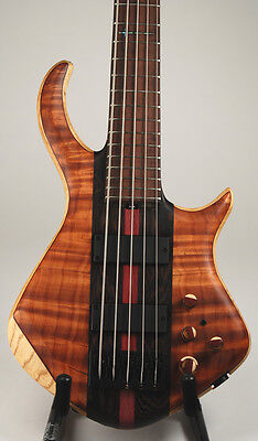 Warrior Double Cutaway 5 string Electric Bass Guitar