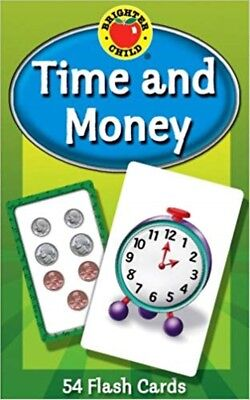 Time and Money Flash Cards Kids Toddler Learning Early Child Learns -