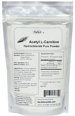 NuSci Acetyl L-Carnitine Pure Powder ALC 100g(3.52 oz) Longevity for sale  Walnut