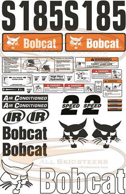 30pcs Bobcat S185 Out Side Decal Sticker Kit New Style Skid Steer Loader Number