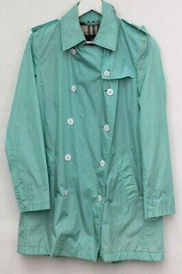 BURBERRY women's blue raincoat lightweight jacket coat trench Nova Check 12 M