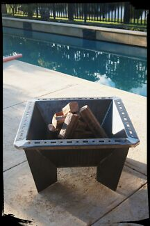 Custom steel Fire pit - Squared to Round Fire Pit Maddington Gosnells Area Preview