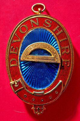 Devonshire Mark Past Provincial Grand Superintendent of Works masonic jewel