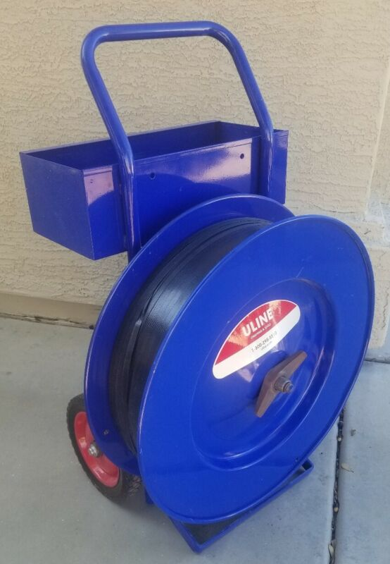 """Uline Industrial Strapping Cart H-39 16"""" Core Steel or Poly Strapping"""