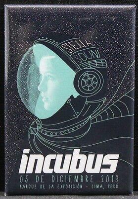 "Incubus Concert Poster 2"" X 3"" Fridge / Locker Magnet. Lima, Peru"