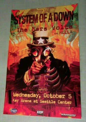 System of a Down 2005 BGP Seattle October 5th Original Concert Poster Key Arena