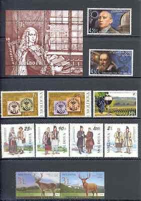 Moldova - Lot of Stamps and Souvenir Sheet 1998-2009 MNH**