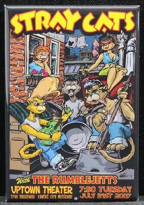 "Stray Cats Concert Poster 2"" X 3"" Fridge Magnet. Kansas City Missouri"