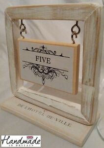 Table Name Box Frame Aged Number Card Place Wedding Holder Stand