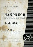 Dr. Jur. Alexander Lane : , Handbuch , Manuel Des Traducteurs, Interpretes .. . - inter - ebay.it