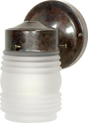 "Nuvo 1 Light 6"" Porch Wall Mason Jar with Frosted Glass"