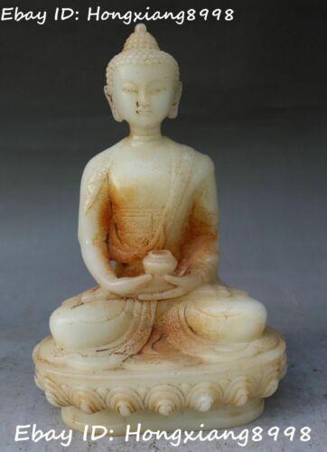 China Buddhism Old Jade Shakyamuni Sakyamuni Amitabha Buddha Bowl Statue