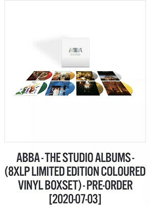 Abba - The Studio Albums 8 Coloured Vinyls Sold Out Pre Order 3rd July