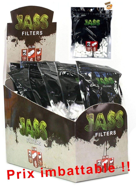 lot filtres à cigarette jass 6mm pour feuille à rouler lot de 1 à 100 sachets