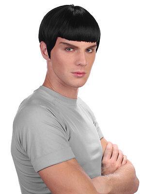 Spock Perücke schwarz NEU - Karneval Fasching Perücke - Spock Perücke