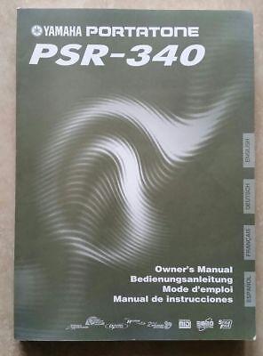 Original Yamaha - PSR 340 - Bedienungsanleitung - Owner's Manual - 4 Sprachen
