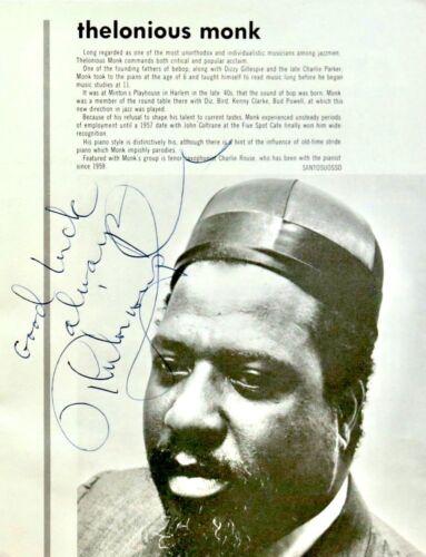 THELONIOUS MONK - SIGNED 1966 Detroit Jazz FestIiva PROGRAM - LIFETIME GUARANTEE