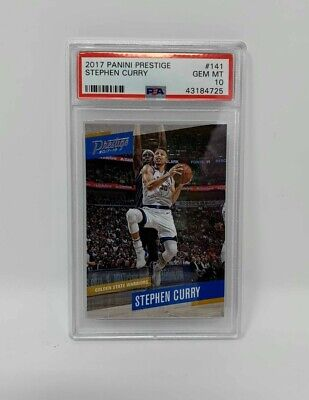 2017 Panini Prestige #141 Stephen Curry Golden State Warriors Card PSA 10