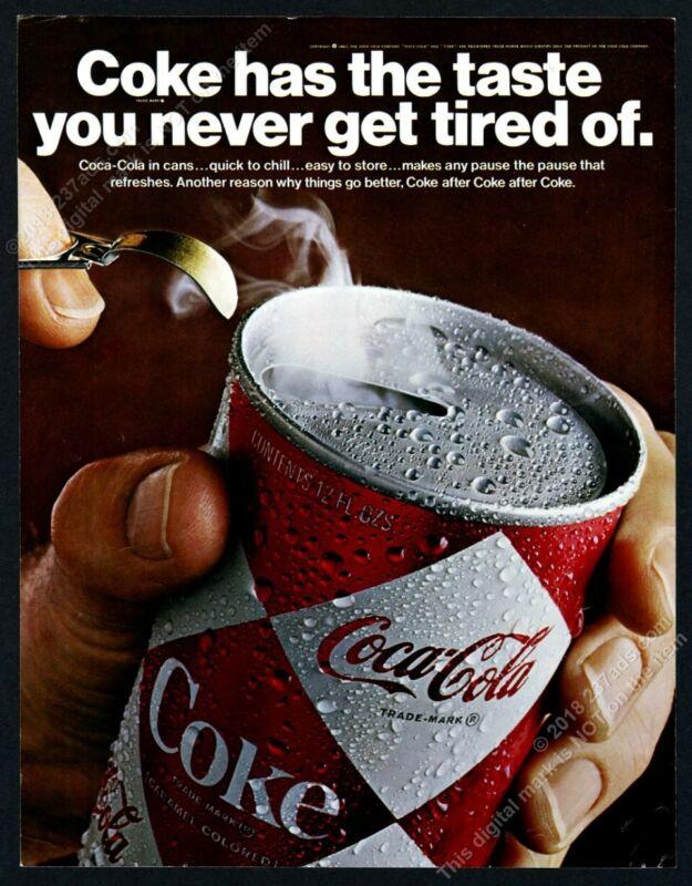 1967 Coke Coca Cola Raymond Loewy diamond can photo vintage print ad