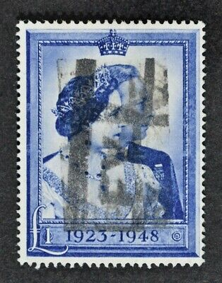 KGVI, 1948, £1 Silver Wedding value, SG 494, used condition, Cat £40.
