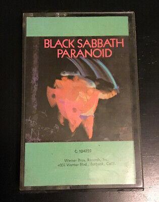 Black Sabbath Paranoid CASSETTE TAPE First Edition US RCA Ozzy Osbourne