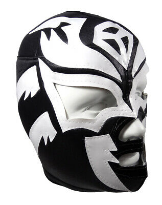SOMBRA (pro-fit) Adult Lucha Libre Halloween Costume Mask - Black/White