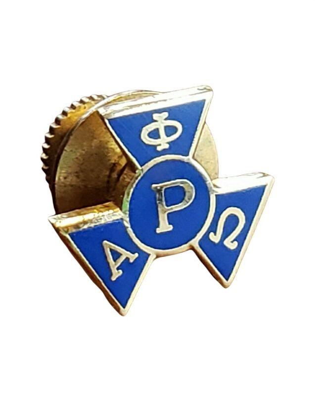 Alpha Phi Omega Pledge Pin Badge Vintage National Service Fraternity Blue Gold