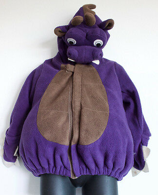 Old Navy Baby Toddler Purple Dinosaur Plush Jumpsuit Costume 18-24 mos.o4 (Dinosaur Halloween Costume Old Navy)
