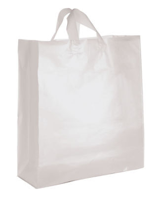 """Clear Bags Plastic 100 Jumbo Merchandise Shopping Frosted Frosty  16"""" x 6 x - Jumbo Plastic Gift Bags"""