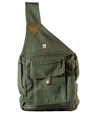 Hanf-Matchsack -Schultertasche PURE-HF-0054 Ergo 34x 30 cm, Khaki Nr. 68 B ()