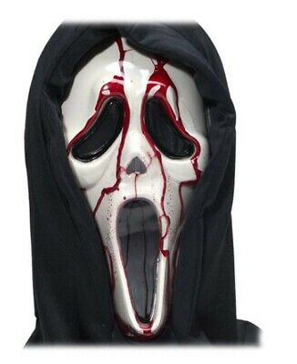 Blutend Bloody Scream Maske mit Blut & Pumpe - Scream Kostüm Mit Blut