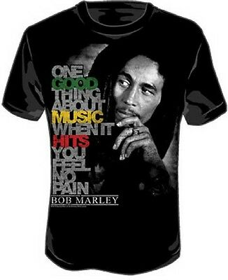Bob Marley Tee Shirts - Official Bob Marley - Good Music Hits Adult T-Shirt - Jamaican Reggae Singer Tee