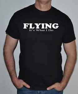 stile-aviatore-ITS-WHAT-I-Do-divertente-T-SHIRT