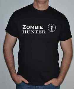 Zombie-CACCIATORE-T-shirt-HORROR-SCI-FI