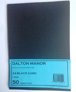 50-SHEET-A4-CARD-BLACK-170gm-HIGH-QUALITY-ART-CRAFT-OFFICE-COLLAGE-USE