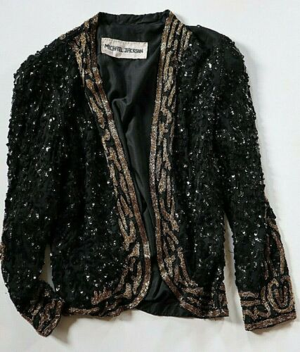 MICHAEL JACKSON OWN WORN OWNED JACKET FROM 1984 VICTORY TOUR WITH SIGNED LOA