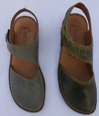 Josef Seibel Ladies Leather Sandal Green or Blue Style- Rosalie 27