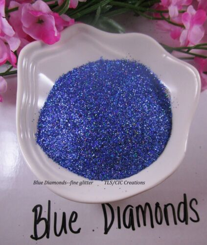 "Glitter for Tumblers ""Blue Diamonds""  Epoxy Resin Crafts Glitter Ships from USA"