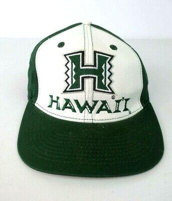 UNIVERSITY OF HAWAII SNAPBACK HAT GREEN BASIC LOGO ECLIPSE NCAA VTG 90s Green Basic Logo Hat