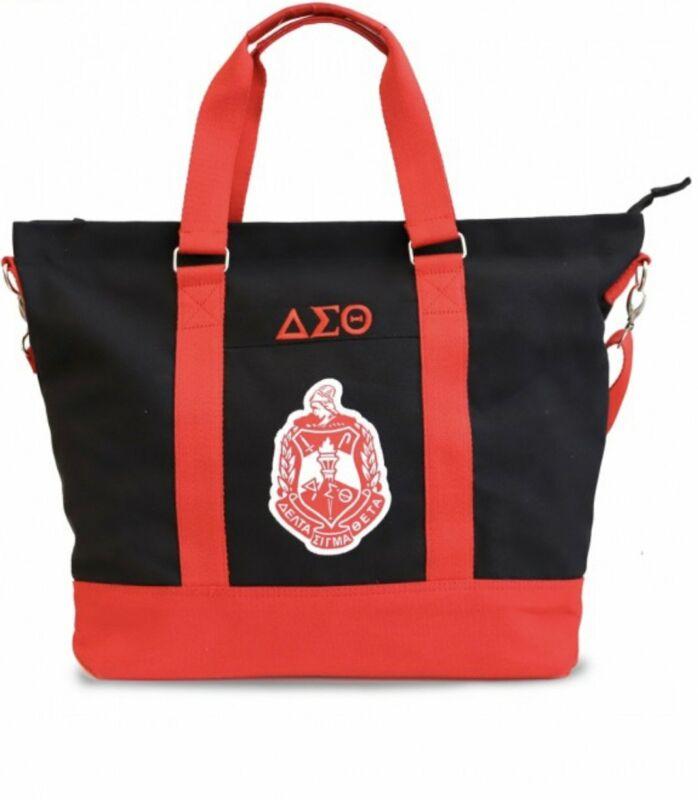 Delta Sigma Theta - Canvas Bag (Black)