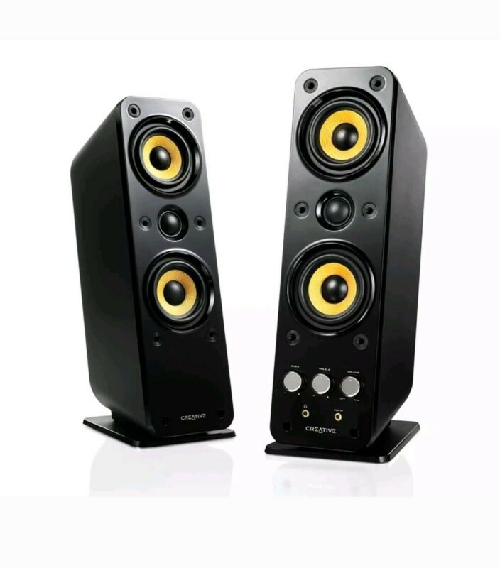 Creative GigaWorks Series II 2.0 Speaker System (2-Piece) Black/Yellow T40
