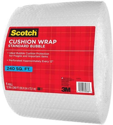 Scotch Cushion Standard Bubble Wrap 240 Ft Roll 12 Wide With 12 Perforations