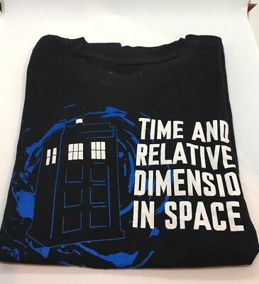 DOCTOR Who T-Shirt Time And Relative Dimension In Space Size (Time And Relative Dimension In Space T Shirt)