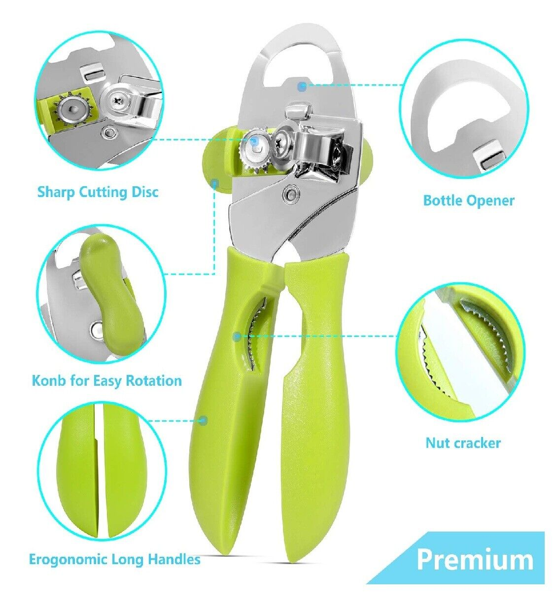 4 in1 can opener manual smooth edge