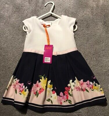 💕Beautiful baby Ted Baker Floral Dress 💕 BNWT 12-18 months Brand New