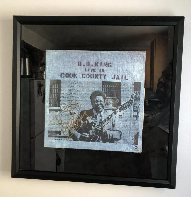 BB King IP Signed Autographed Cook County Jail Album  LP Vinyl