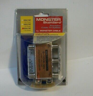 Monster Standard Precision Cable TV Splitter SS4RF 5-1000 MHz 4 way splitter